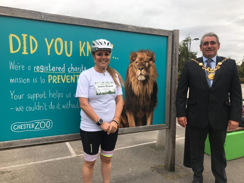 Clare Roberts and the Lord Mayor of Chester